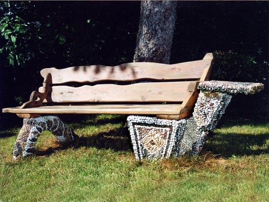 mosaik galerie eigene arbeiten gartenbank. Black Bedroom Furniture Sets. Home Design Ideas
